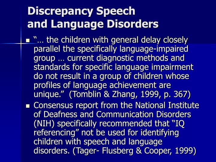 Discrepancy Speech