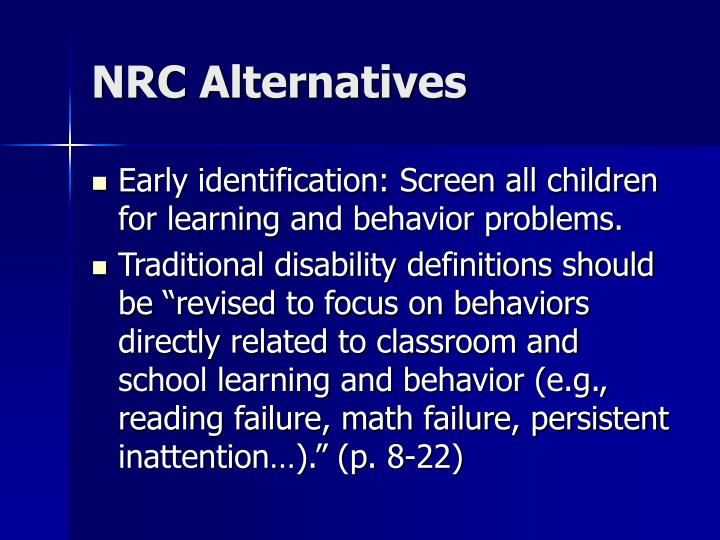 NRC Alternatives