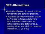 nrc alternatives