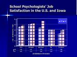 school psychologists job satisfaction in the u s and iowa