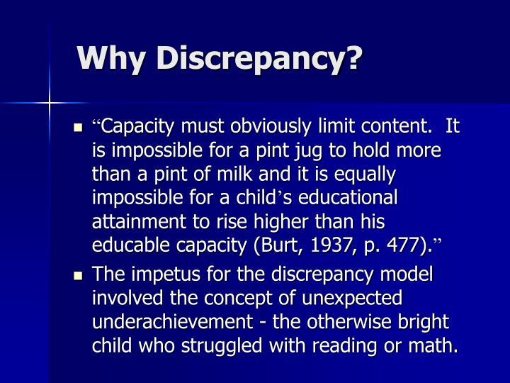Why Discrepancy?