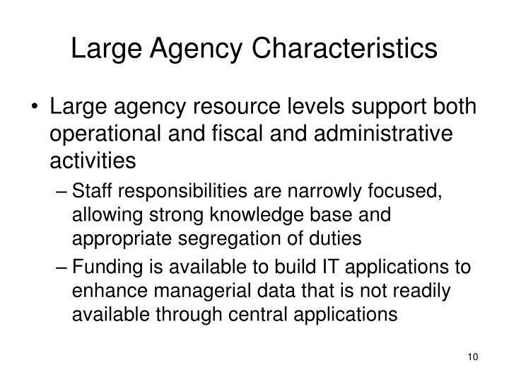 Large Agency Characteristics