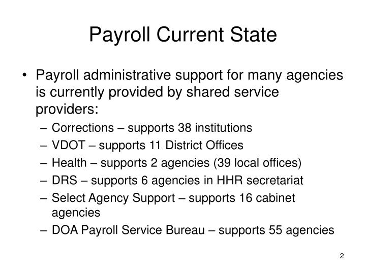 Payroll Current State