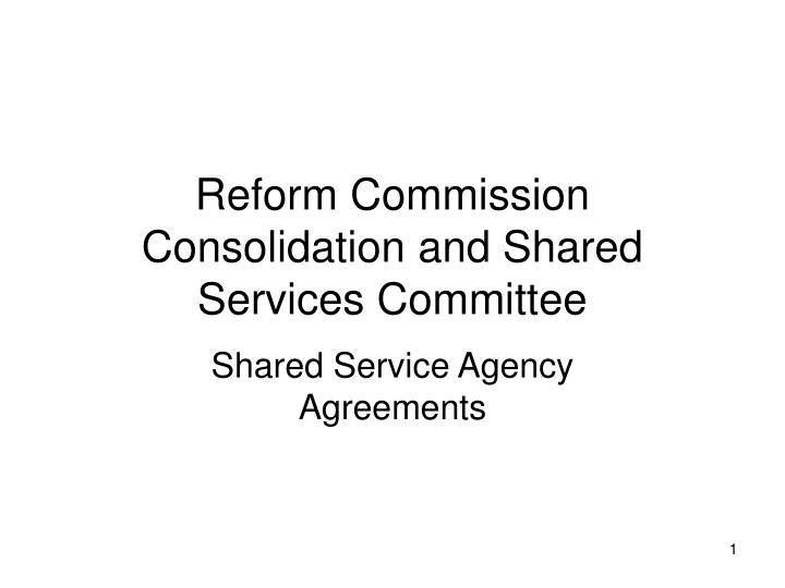Reform Commission