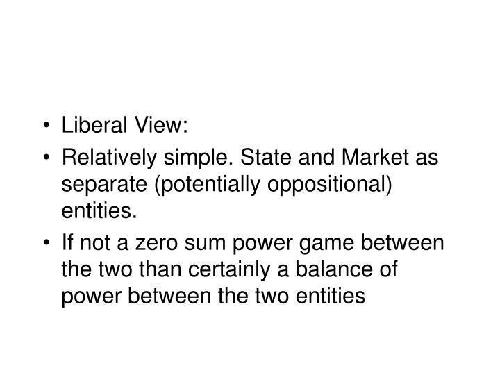 Liberal View: