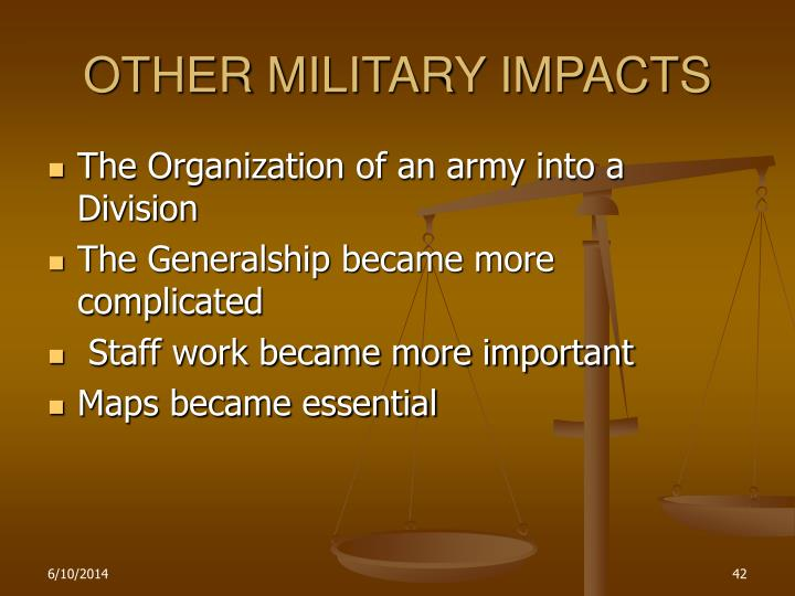 OTHER MILITARY IMPACTS