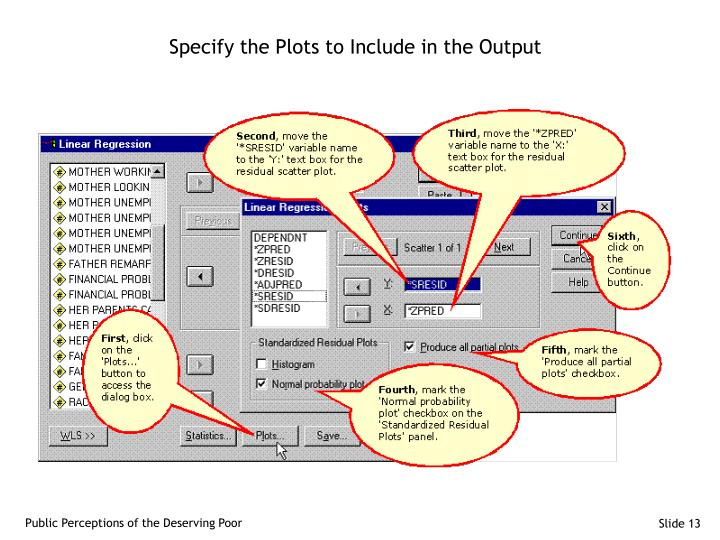 Specify the Plots to Include in the Output