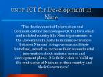 undp ict for development in niue