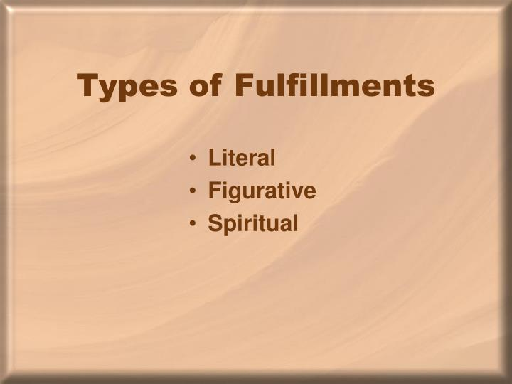 Types of Fulfillments