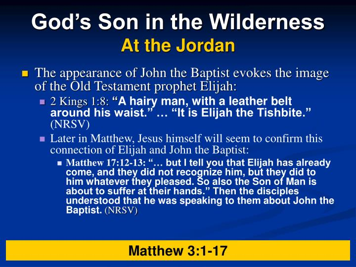 God's Son in the Wilderness