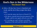 god s son in the wilderness the desert test1