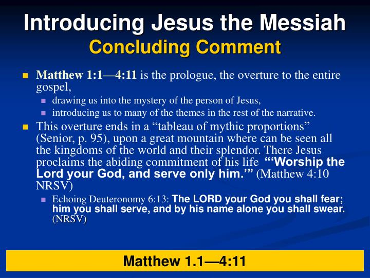 Introducing Jesus the Messiah
