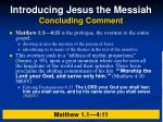 introducing jesus the messiah concluding comment