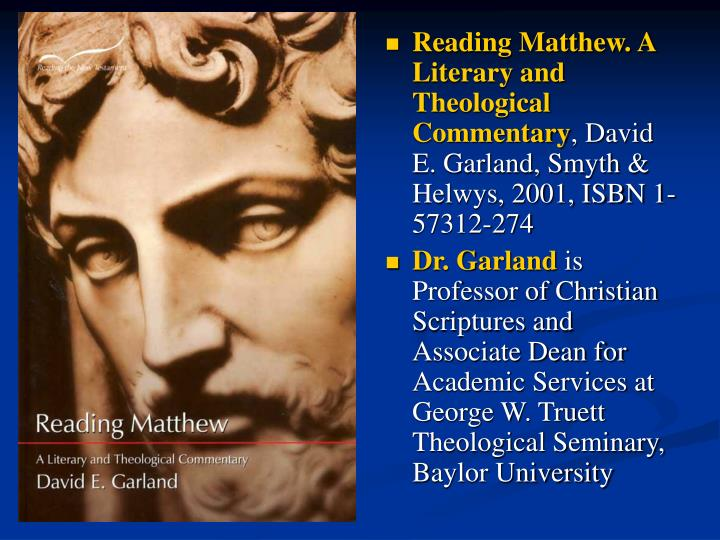 Reading Matthew. A Literary and Theological Commentary