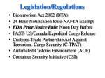 legislation regulations