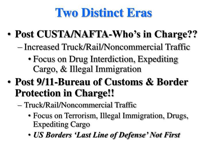 Two Distinct Eras