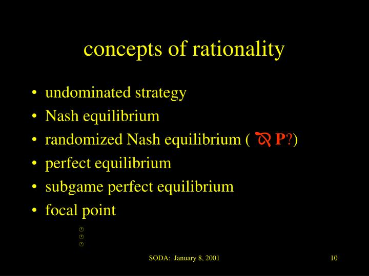 concepts of rationality