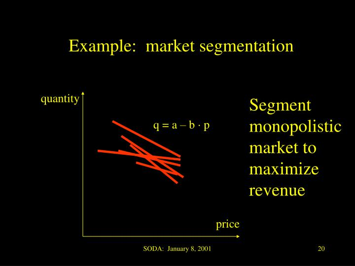 Example:  market segmentation
