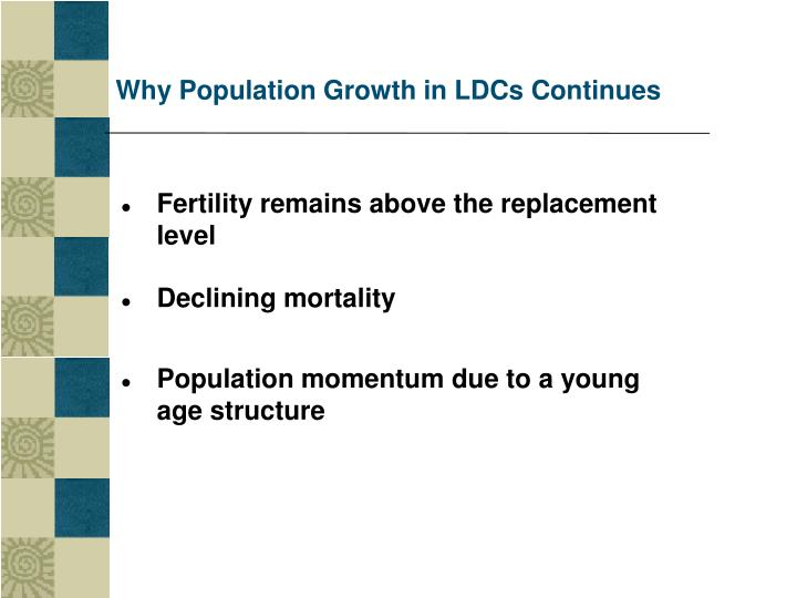 Why Population Growth in LDCs Continues