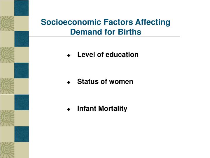 Socioeconomic Factors Affecting