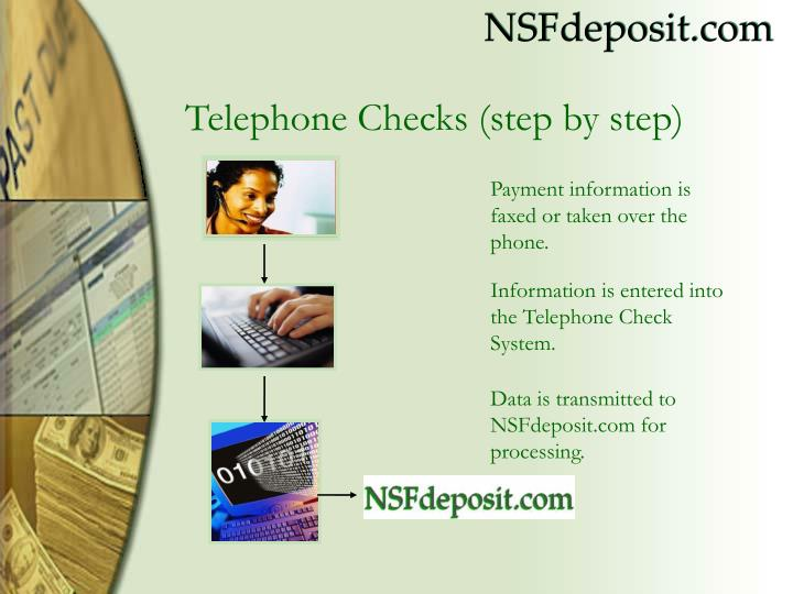 Payment information is faxed or taken over the phone.