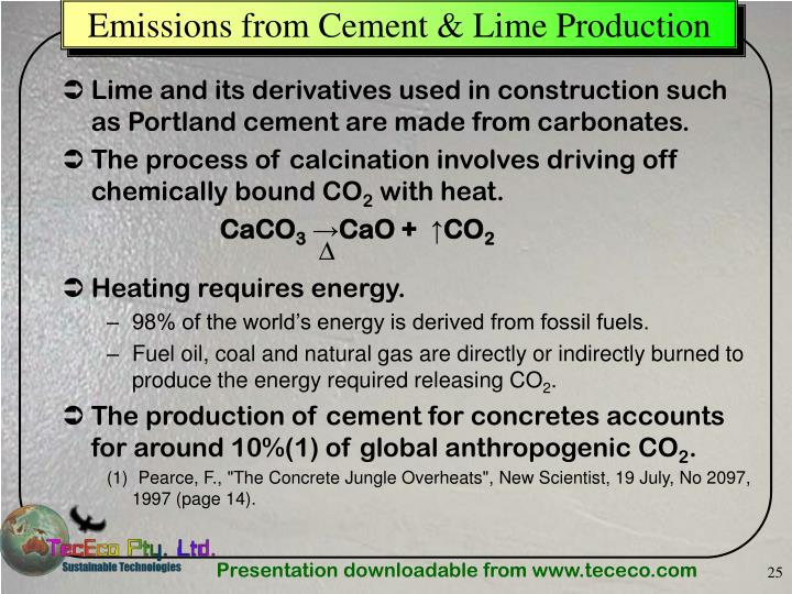 Emissions from Cement & Lime Production