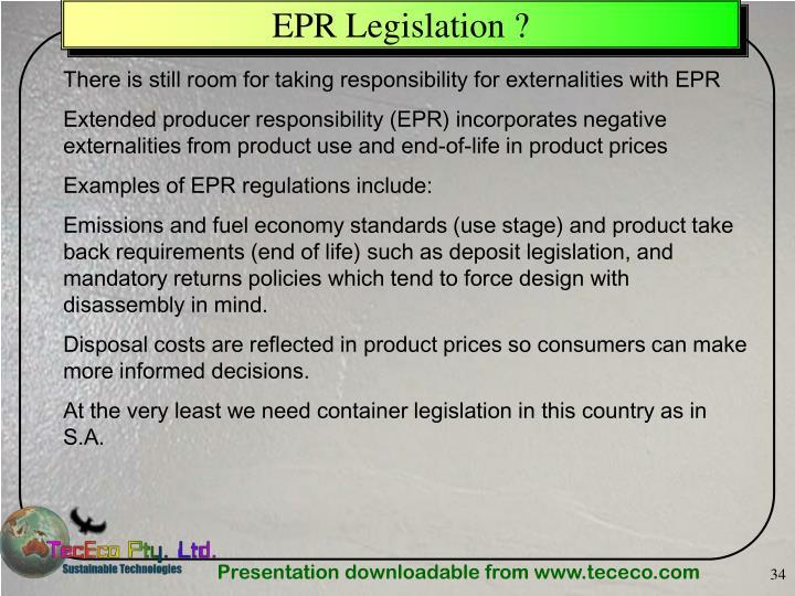 EPR Legislation ?