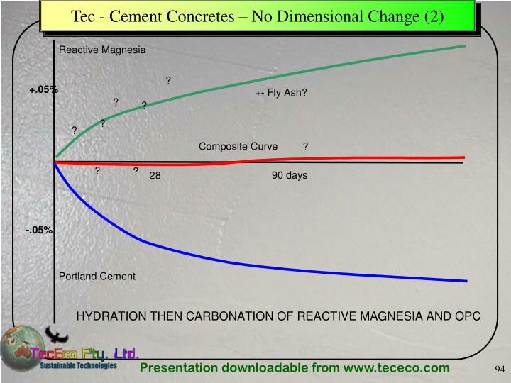 Tec - Cement Concretes – No Dimensional Change (2)