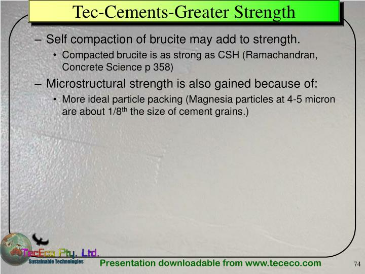 Tec-Cements-Greater Strength