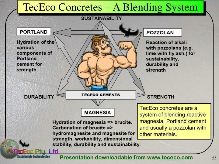 TecEco Concretes – A Blending System