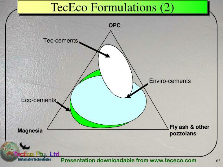 TecEco Formulations
