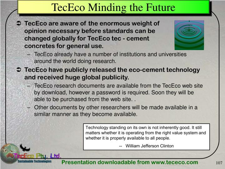 TecEco Minding the Future