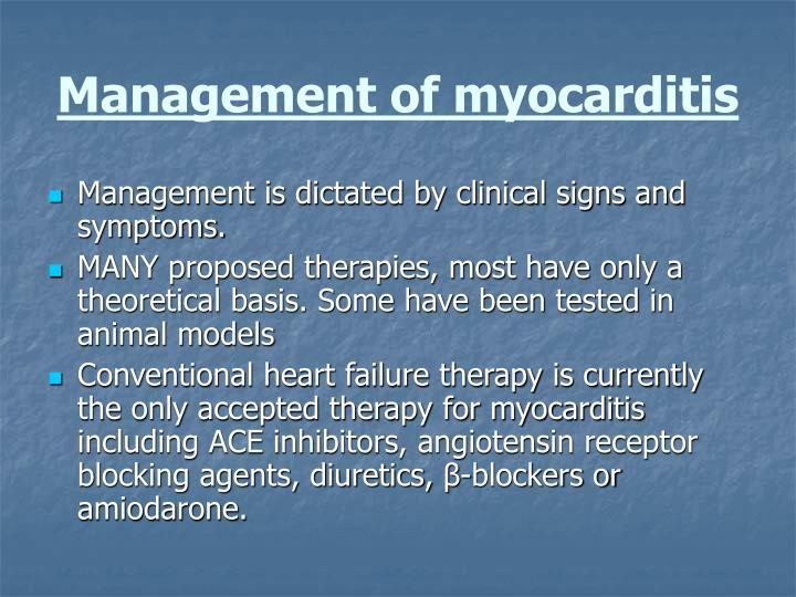Management of myocarditis