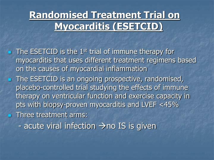 Randomised Treatment Trial on Myocarditis (ESETCID)