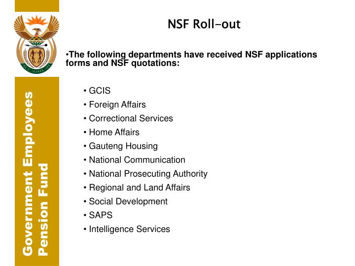 NSF Roll-out
