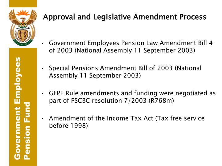 Approval and Legislative Amendment Process