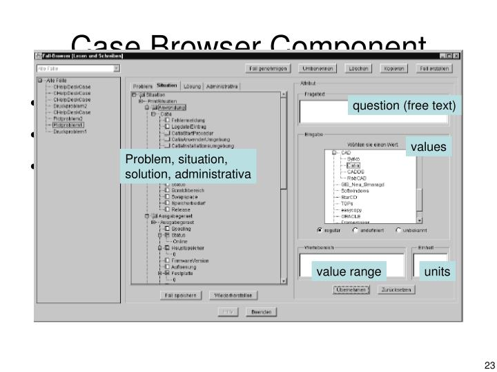 Case Browser Component