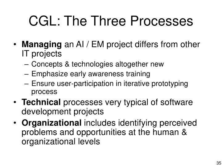 CGL: The Three Processes