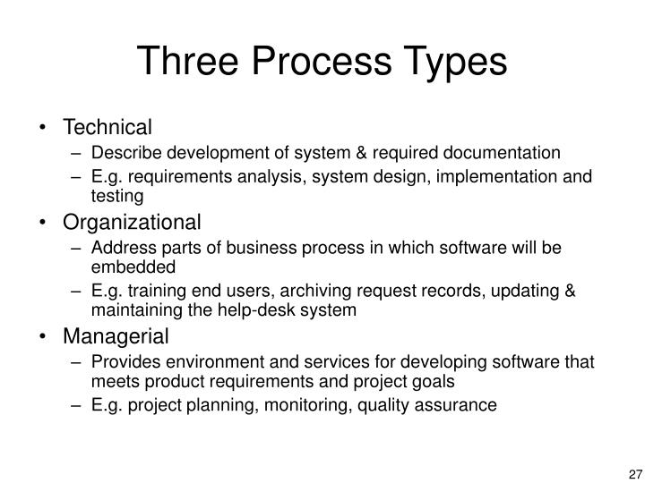 Three Process Types