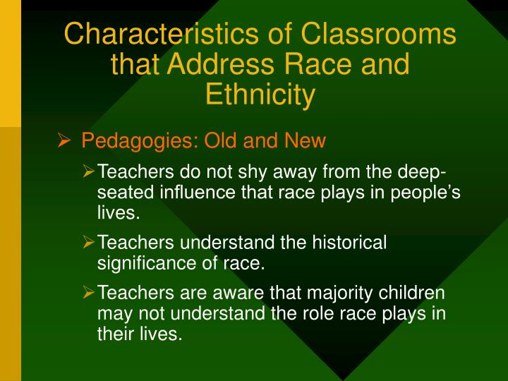 Characteristics of Classrooms that Address Race and Ethnicity