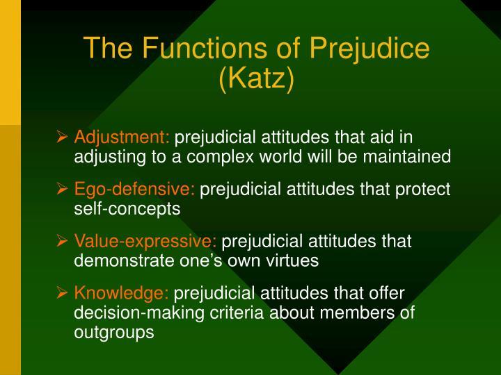 The Functions of Prejudice (Katz)
