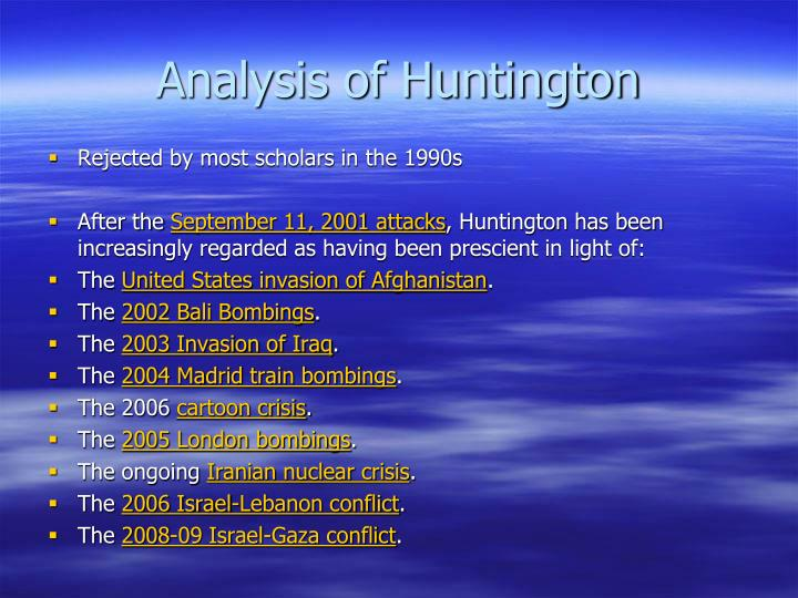 Analysis of Huntington