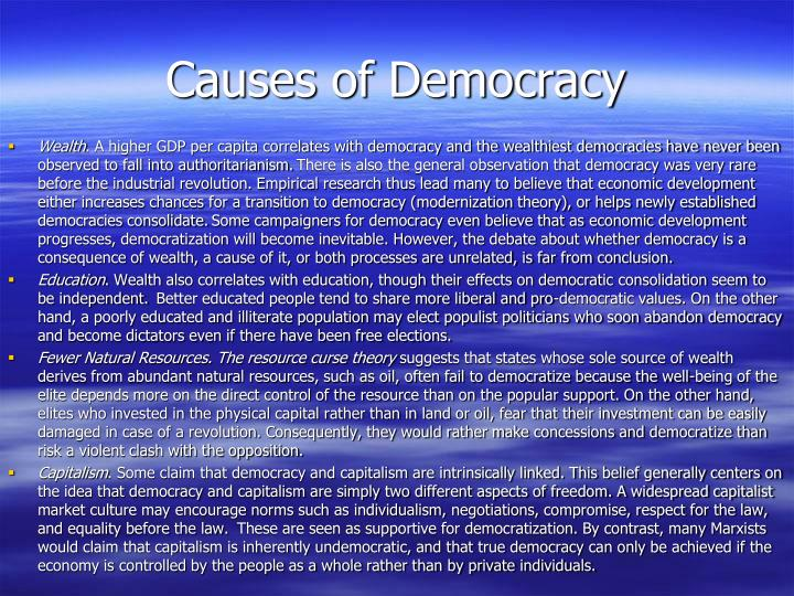 Causes of Democracy