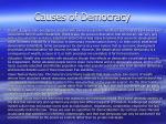 causes of democracy