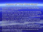 causes of the third wave