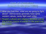 clash of civilizations samuel huntington 1991