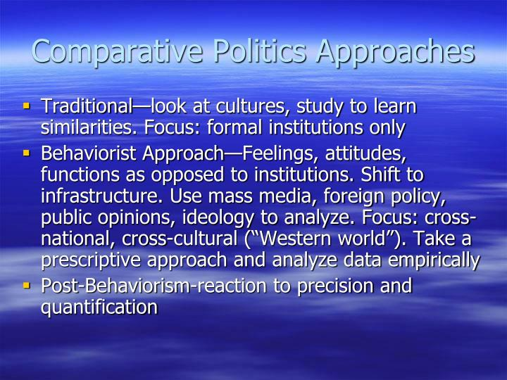 Comparative Politics Approaches