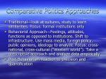 comparative politics approaches