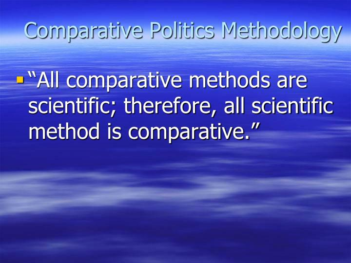 Comparative politics methodology