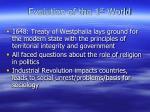 evolution of the 1 st world